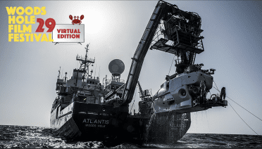 Human Occupied Vehicle Alvin recovered on board Research Vessel Atlantis after exploring an unexpected shipwreck off the coast of North Carolina in July of 2015 (Photo by Luis Lamar, © Woods Hole Oceanographic Institution)