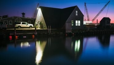 Dyer's Hangar sits just five feet above resting sea level in Woods Hole (© Daniel Hentz Photography)