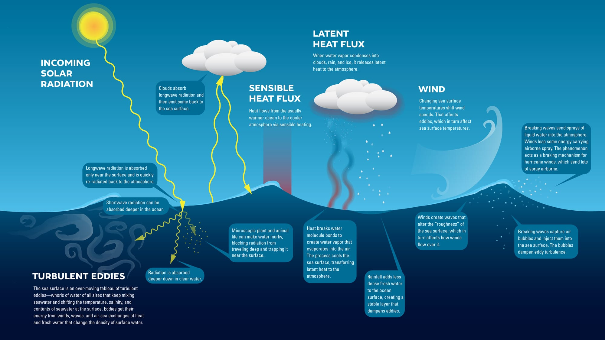 Ocean Atmosphere Interaction illustration