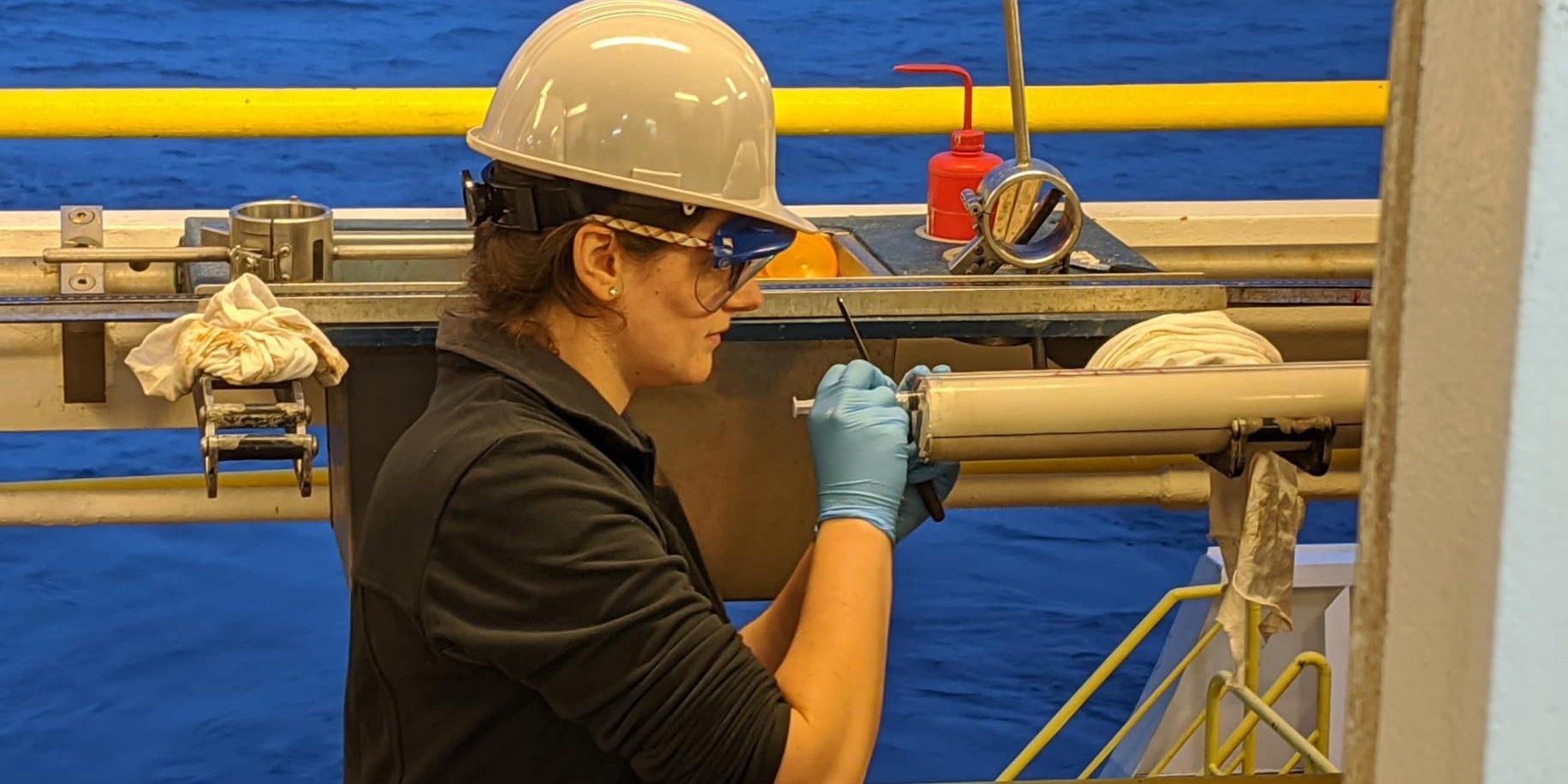 WHOI marine geochemist Ann Dunlea