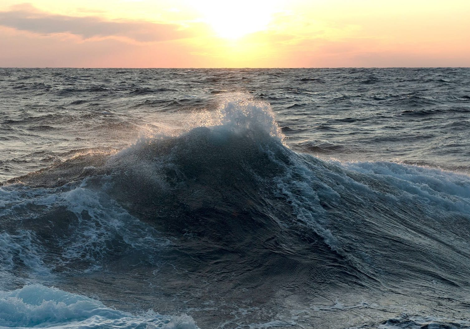 Surface waves forming in the Gulf of Mexico